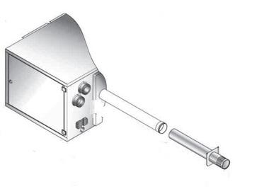 NVx 15-25 Flue Single wall horizontal gas terminal