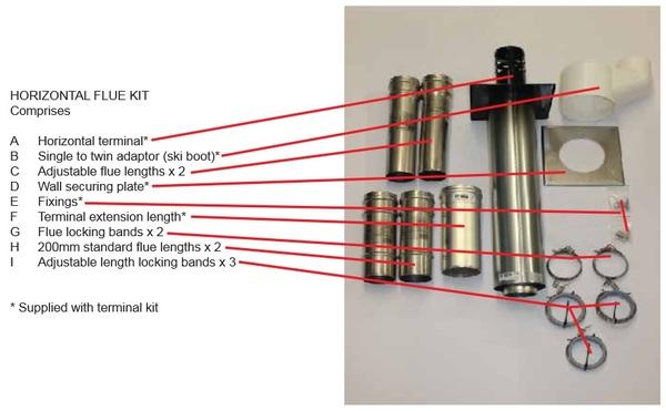 NVX 30-50/VPC 30-52 Concentric horizontal flue kit